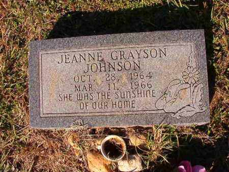 JOHNSON, JEANNE GRAYSON - Dallas County, Arkansas | JEANNE GRAYSON JOHNSON - Arkansas Gravestone Photos