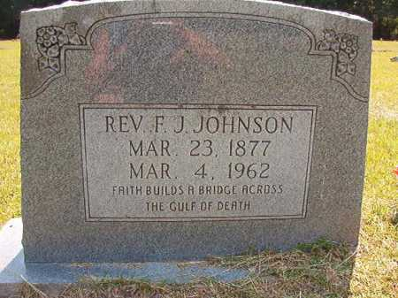 JOHNSON, REV, F J - Dallas County, Arkansas | F J JOHNSON, REV - Arkansas Gravestone Photos