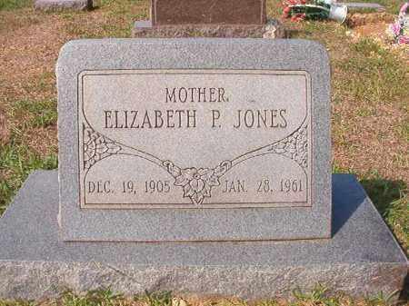 JONES, ELIZABETH P - Dallas County, Arkansas | ELIZABETH P JONES - Arkansas Gravestone Photos