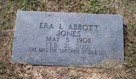 ABBOTT JONES, ERA L - Dallas County, Arkansas | ERA L ABBOTT JONES - Arkansas Gravestone Photos