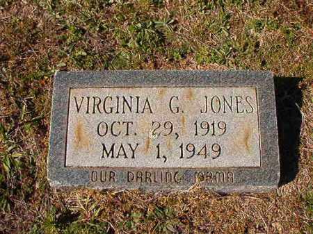 JONES, VIRGINIA G - Dallas County, Arkansas | VIRGINIA G JONES - Arkansas Gravestone Photos