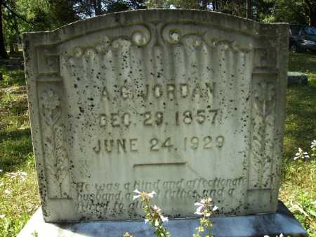 JORDAN, A G - Dallas County, Arkansas | A G JORDAN - Arkansas Gravestone Photos