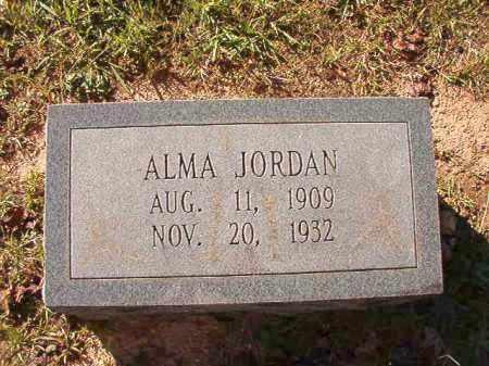 JORDAN, ALMA - Dallas County, Arkansas | ALMA JORDAN - Arkansas Gravestone Photos