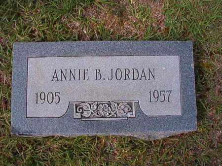 JORDAN, ANNIE B - Dallas County, Arkansas | ANNIE B JORDAN - Arkansas Gravestone Photos