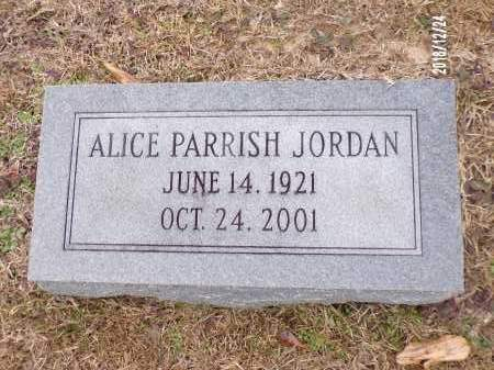 PARRISH JORDAN, ALICE - Dallas County, Arkansas | ALICE PARRISH JORDAN - Arkansas Gravestone Photos