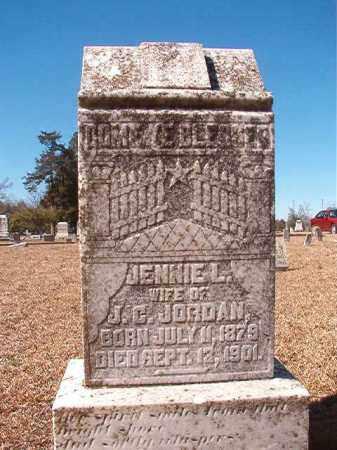 JORDAN, JENNIE L - Dallas County, Arkansas | JENNIE L JORDAN - Arkansas Gravestone Photos