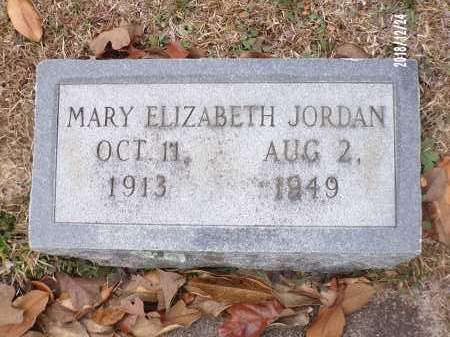 JORDAN, MARY ELIZABETH - Dallas County, Arkansas | MARY ELIZABETH JORDAN - Arkansas Gravestone Photos