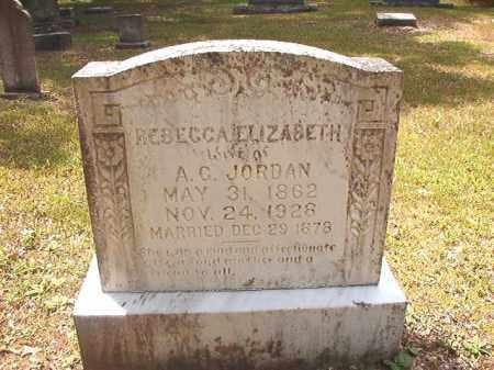 JORDAN, REBECCA ELIZABETH - Dallas County, Arkansas | REBECCA ELIZABETH JORDAN - Arkansas Gravestone Photos