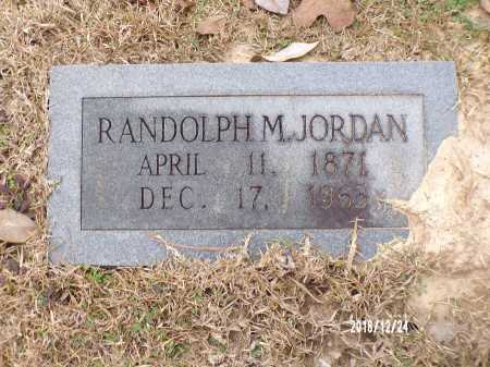 JORDAN, RANDOLPH M - Dallas County, Arkansas | RANDOLPH M JORDAN - Arkansas Gravestone Photos