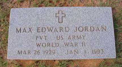 JORDAN (VETERAN WWII), MAX EDWARD - Dallas County, Arkansas | MAX EDWARD JORDAN (VETERAN WWII) - Arkansas Gravestone Photos