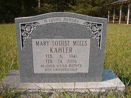 MILLS KAHLER, MARY LOUISE - Dallas County, Arkansas | MARY LOUISE MILLS KAHLER - Arkansas Gravestone Photos