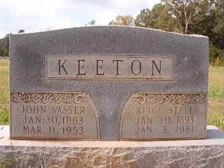 KEETON, JOHN SASSER - Dallas County, Arkansas | JOHN SASSER KEETON - Arkansas Gravestone Photos
