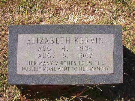 KERVIN, ELIZABETH - Dallas County, Arkansas | ELIZABETH KERVIN - Arkansas Gravestone Photos