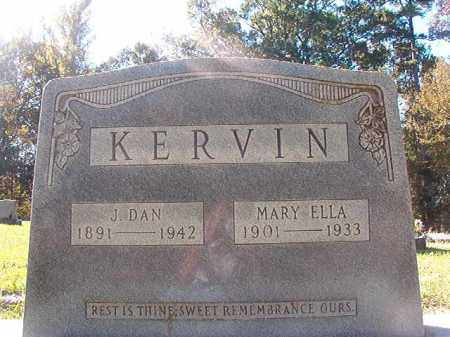 KERVIN, MARY ELLA - Dallas County, Arkansas   MARY ELLA KERVIN - Arkansas Gravestone Photos