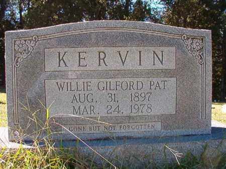 """KERVIN, WILLIE GILFORD """"PAT"""" - Dallas County, Arkansas   WILLIE GILFORD """"PAT"""" KERVIN - Arkansas Gravestone Photos"""