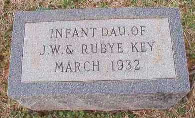 KEY, INFANT DAUGHTER - Dallas County, Arkansas | INFANT DAUGHTER KEY - Arkansas Gravestone Photos