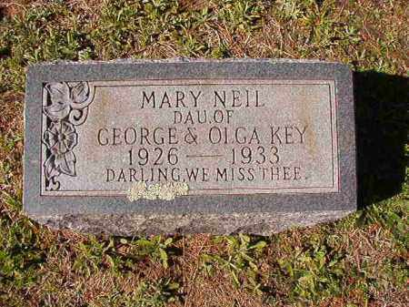 KEY, MARY NEIL - Dallas County, Arkansas | MARY NEIL KEY - Arkansas Gravestone Photos
