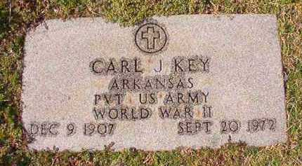KEY (VETERAN WWII), CARL J - Dallas County, Arkansas | CARL J KEY (VETERAN WWII) - Arkansas Gravestone Photos