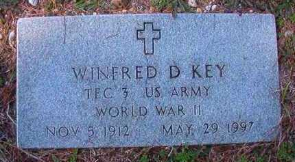 KEY (VETERAN WWII), WINFRED D - Dallas County, Arkansas | WINFRED D KEY (VETERAN WWII) - Arkansas Gravestone Photos