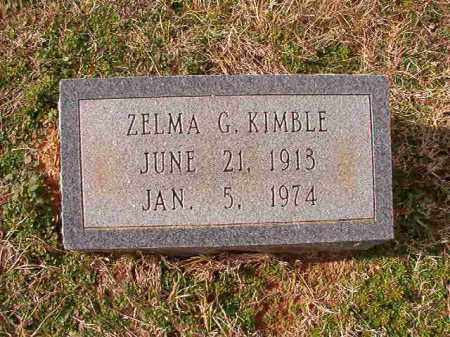 KIMBLE, ZELMA G - Dallas County, Arkansas | ZELMA G KIMBLE - Arkansas Gravestone Photos