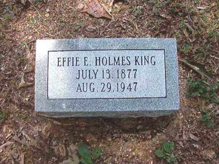 HOLMES KING, EFFIE E - Dallas County, Arkansas | EFFIE E HOLMES KING - Arkansas Gravestone Photos