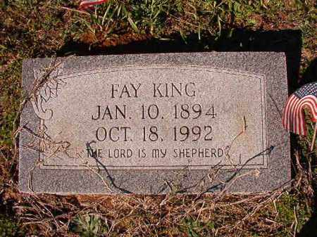 KING, FAY - Dallas County, Arkansas | FAY KING - Arkansas Gravestone Photos