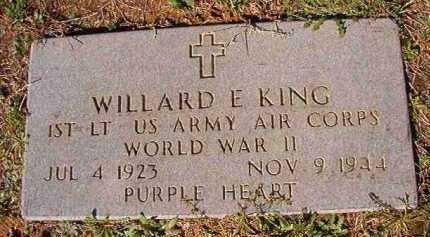 KING (VETERAN  WWII), WILLARD E - Dallas County, Arkansas | WILLARD E KING (VETERAN  WWII) - Arkansas Gravestone Photos
