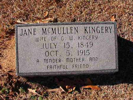 MCMULLEN KINGERY, JANE - Dallas County, Arkansas | JANE MCMULLEN KINGERY - Arkansas Gravestone Photos