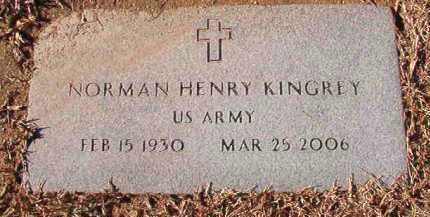 KINGREY (VETERAN), NORMAN HENRY - Dallas County, Arkansas | NORMAN HENRY KINGREY (VETERAN) - Arkansas Gravestone Photos