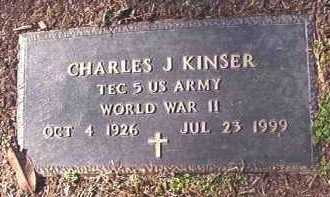 KINSER (VETERAN WWII), CHARLES J - Dallas County, Arkansas | CHARLES J KINSER (VETERAN WWII) - Arkansas Gravestone Photos