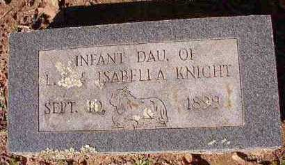 KNIGHT, INFANT DAUGHTER - Dallas County, Arkansas | INFANT DAUGHTER KNIGHT - Arkansas Gravestone Photos