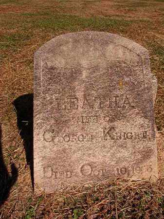 KNIGHT, LEATHA - Dallas County, Arkansas | LEATHA KNIGHT - Arkansas Gravestone Photos