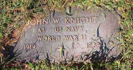 KNIGHT (VETERAN WWII), JOHN W - Dallas County, Arkansas | JOHN W KNIGHT (VETERAN WWII) - Arkansas Gravestone Photos