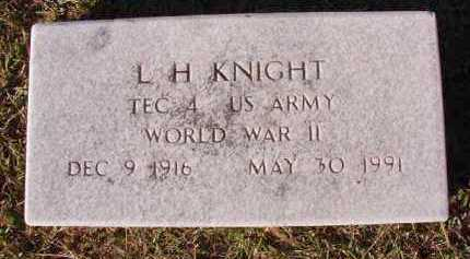 KNIGHT (VETERAN WWII), L H - Dallas County, Arkansas | L H KNIGHT (VETERAN WWII) - Arkansas Gravestone Photos