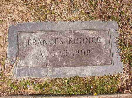 KOONCE, FRANCES - Dallas County, Arkansas | FRANCES KOONCE - Arkansas Gravestone Photos