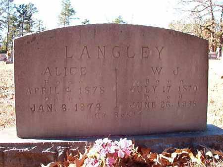LANGLEY, W J - Dallas County, Arkansas | W J LANGLEY - Arkansas Gravestone Photos