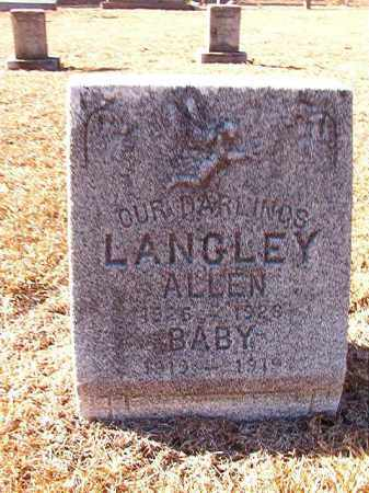 LANGLEY, ALLEN - Dallas County, Arkansas | ALLEN LANGLEY - Arkansas Gravestone Photos