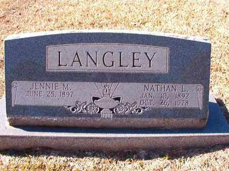 LANGLEY, NATHAN L - Dallas County, Arkansas | NATHAN L LANGLEY - Arkansas Gravestone Photos