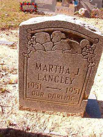 LANGLEY, MARTHA J - Dallas County, Arkansas | MARTHA J LANGLEY - Arkansas Gravestone Photos