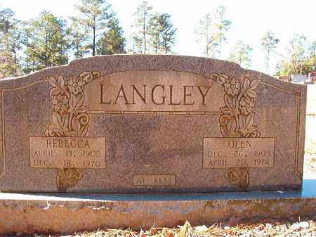 LANGLEY, OLEN - Dallas County, Arkansas | OLEN LANGLEY - Arkansas Gravestone Photos