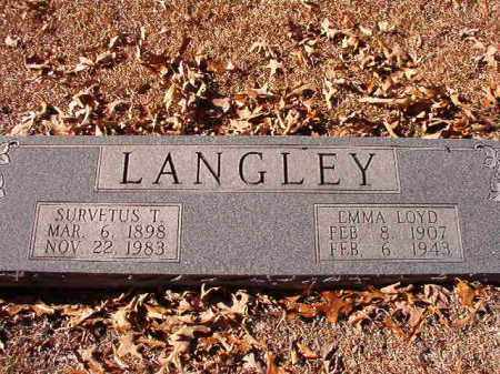LANGLEY, SURVETUS T - Dallas County, Arkansas | SURVETUS T LANGLEY - Arkansas Gravestone Photos