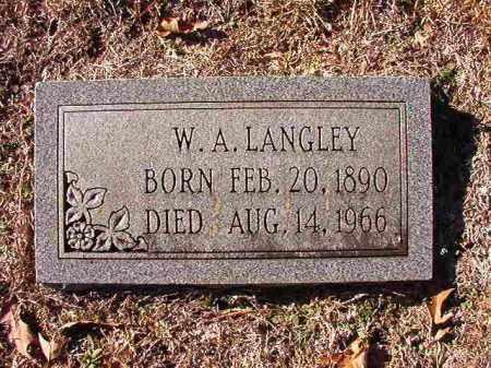 LANGLEY, W A - Dallas County, Arkansas | W A LANGLEY - Arkansas Gravestone Photos