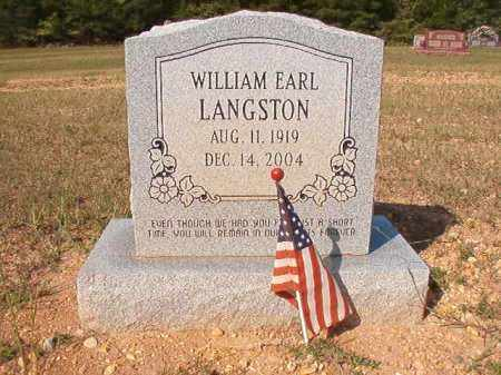 LANGSTON, WILLIAM EARL - Dallas County, Arkansas | WILLIAM EARL LANGSTON - Arkansas Gravestone Photos