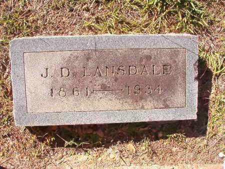LANSDALE, J D - Dallas County, Arkansas   J D LANSDALE - Arkansas Gravestone Photos