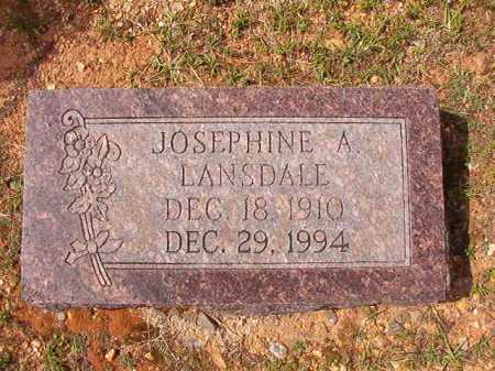 LANSDALE, JOSEPHINE A - Dallas County, Arkansas | JOSEPHINE A LANSDALE - Arkansas Gravestone Photos