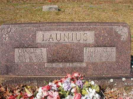 LAUNIUS, CHARLIE T - Dallas County, Arkansas | CHARLIE T LAUNIUS - Arkansas Gravestone Photos