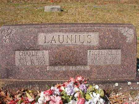 LAUNIUS, FLORENCE E - Dallas County, Arkansas | FLORENCE E LAUNIUS - Arkansas Gravestone Photos