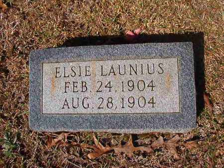 LAUNIUS, ELSIE - Dallas County, Arkansas | ELSIE LAUNIUS - Arkansas Gravestone Photos
