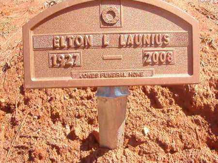 LAUNIUS, ELTON L - Dallas County, Arkansas | ELTON L LAUNIUS - Arkansas Gravestone Photos