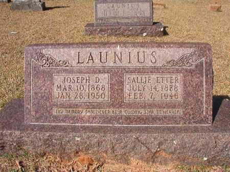LAUNIUS, SALLIE ETTER - Dallas County, Arkansas | SALLIE ETTER LAUNIUS - Arkansas Gravestone Photos